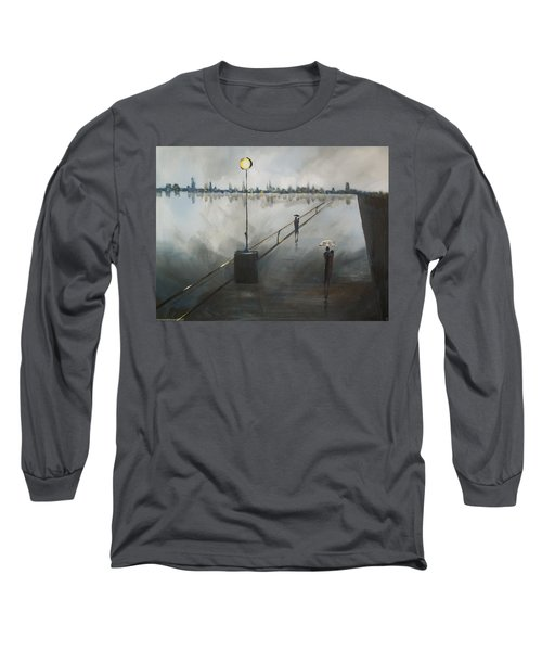 Long Sleeve T-Shirt featuring the painting Upon The Boardwalk by Raymond Doward