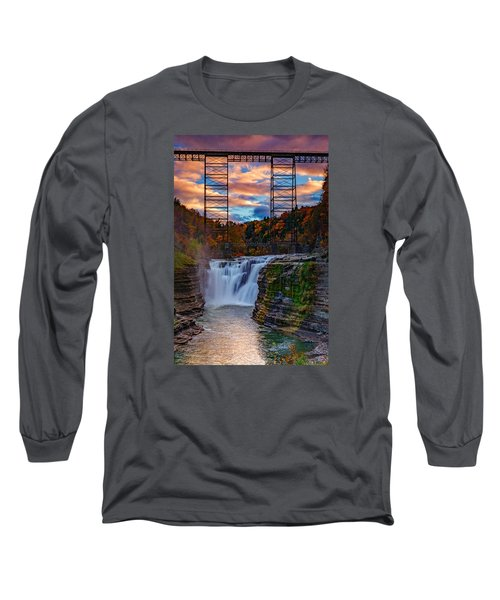 Upper Falls Letchworth State Park Long Sleeve T-Shirt