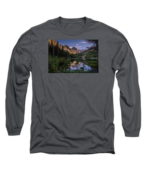 Upper Slate Lake Evening Glow Long Sleeve T-Shirt