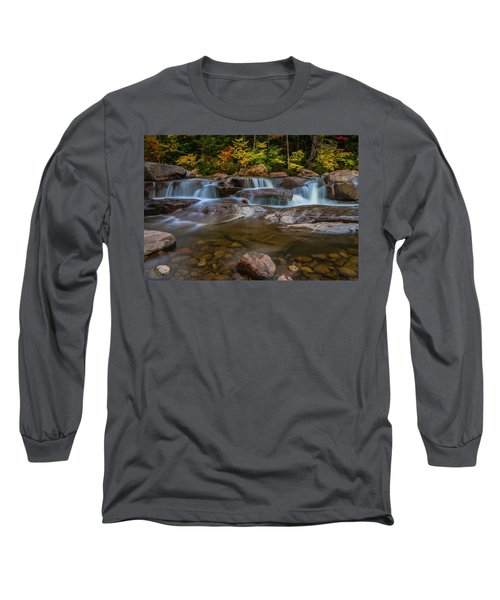 Long Sleeve T-Shirt featuring the photograph Upper Swift River Falls In White Mountains New Hampshire by Ranjay Mitra