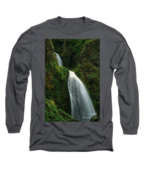 Upper Wahkeena Falls Long Sleeve T-Shirt