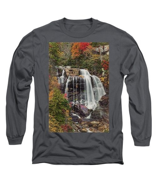 Long Sleeve T-Shirt featuring the photograph Upper Whitewater Falls North Carolina by Bellesouth Studio