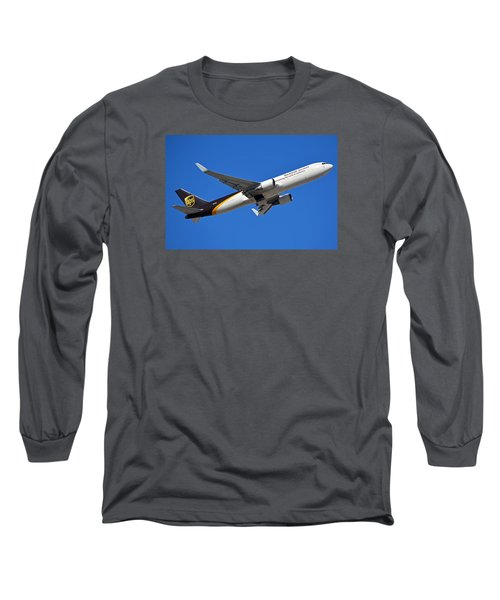 Ups Boeing 767-34af N332up Phoenix Sky Harbor January 12 2015 Long Sleeve T-Shirt by Brian Lockett