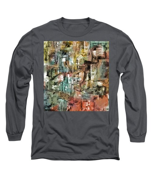Long Sleeve T-Shirt featuring the mixed media Urban #6 by Kim Gauge
