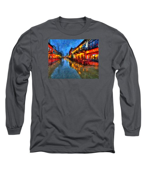 Urban Rain Reflections Long Sleeve T-Shirt