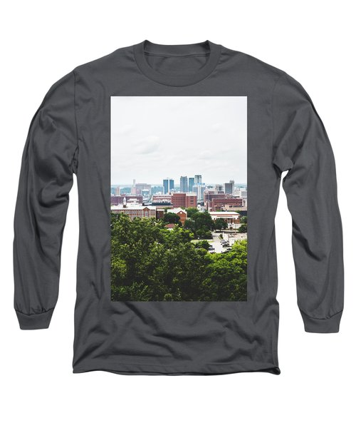 Long Sleeve T-Shirt featuring the photograph Urban Scenes In Birmingham  by Shelby Young