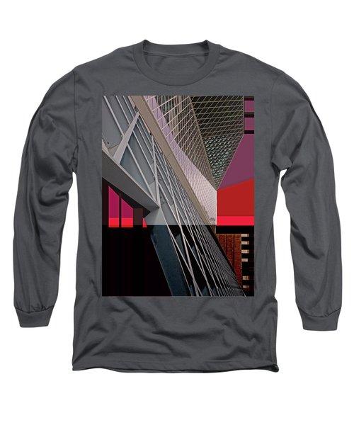 Long Sleeve T-Shirt featuring the digital art Urban Sunset by Walter Fahmy