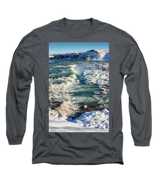 Long Sleeve T-Shirt featuring the photograph Urridafoss Waterfall Iceland by Matthias Hauser
