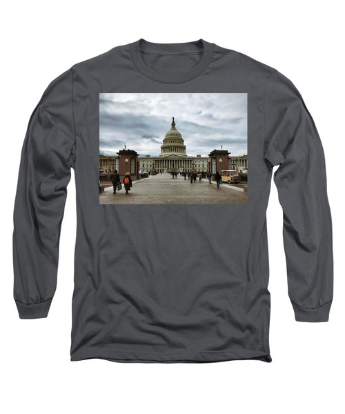 U.s. Capitol Building Long Sleeve T-Shirt