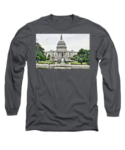 U.s. Capitol Building Long Sleeve T-Shirt