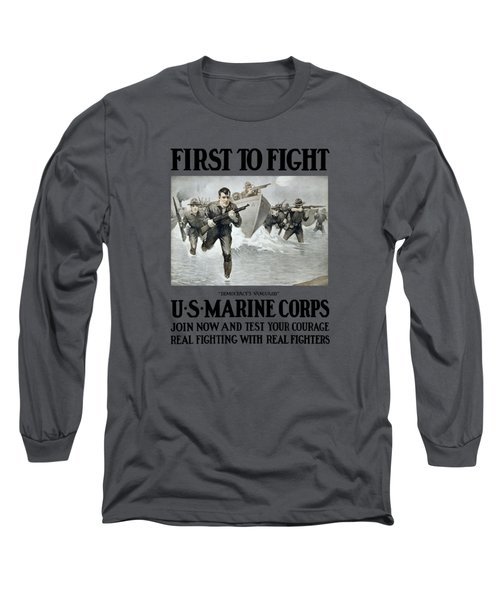 Us Marine Corps - First To Fight  Long Sleeve T-Shirt