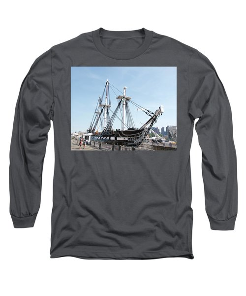 Uss Constitution Dry Dock Long Sleeve T-Shirt by Caroline Stella