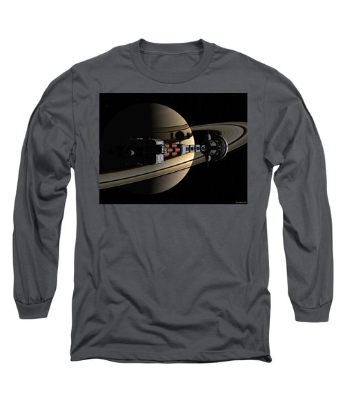 Uss Cumberland Passing Ringed Giant Long Sleeve T-Shirt
