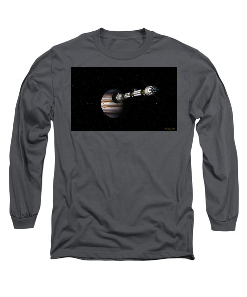 Uss Savannah Approaching Jupiter Long Sleeve T-Shirt
