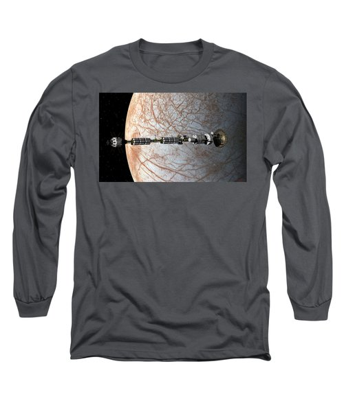 Uss Savannah Entering Orbit Around Europa Long Sleeve T-Shirt