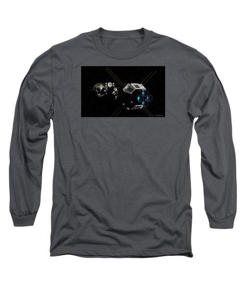 Uss Savannah In Deep Space Long Sleeve T-Shirt by David Robinson