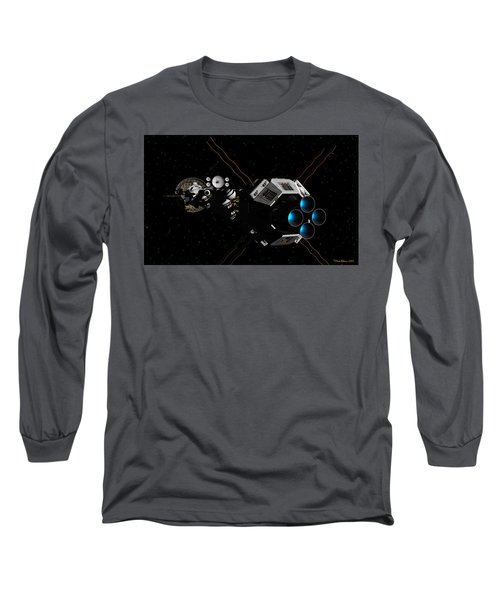 Uss Savannah In Deep Space Long Sleeve T-Shirt