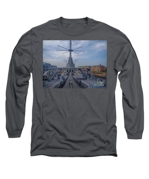 Uss Wisconsin  Long Sleeve T-Shirt by Melissa Messick