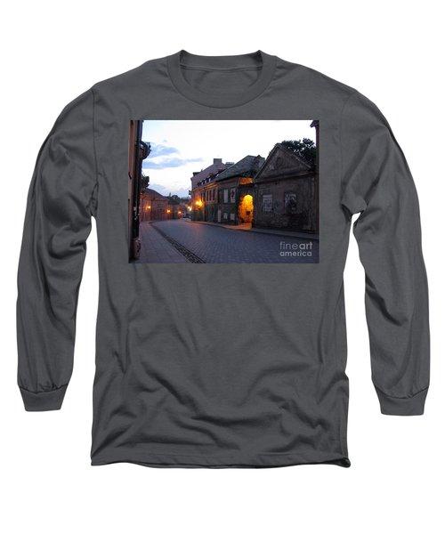 Uzupis Street. Old Vilnius. Lithuania. Long Sleeve T-Shirt by Ausra Huntington nee Paulauskaite