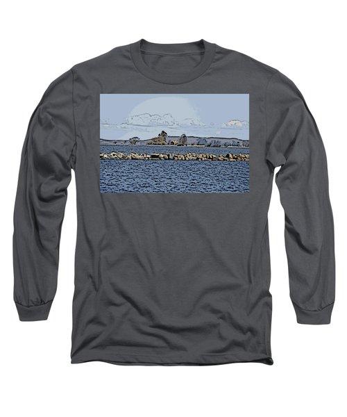 Vaennern Lake Long Sleeve T-Shirt by Thomas M Pikolin