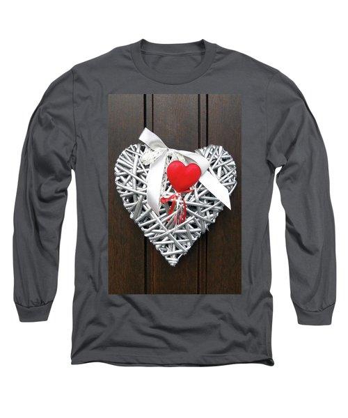 Long Sleeve T-Shirt featuring the photograph Valentine Heart by Juergen Weiss