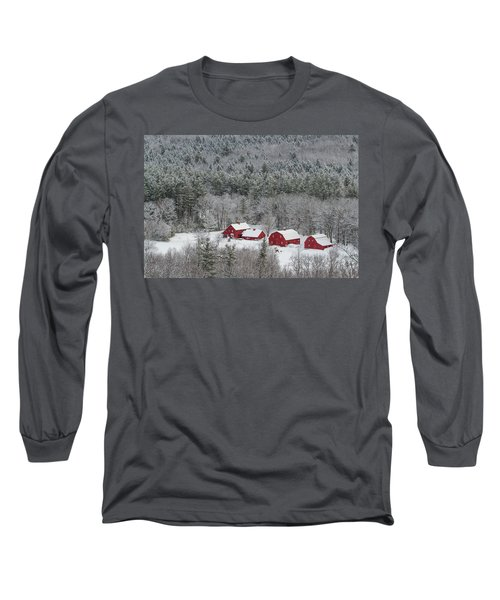 Valley Farm In Winter Long Sleeve T-Shirt