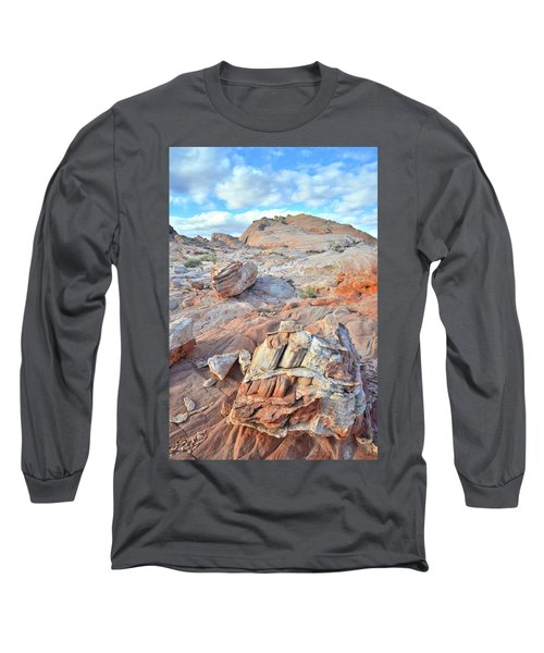 Valley Of Fire Boulders Long Sleeve T-Shirt by Ray Mathis