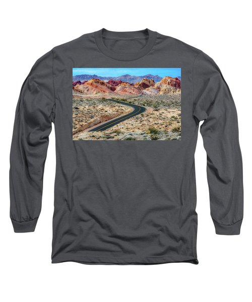 Road Through The Valley Of Fire Long Sleeve T-Shirt