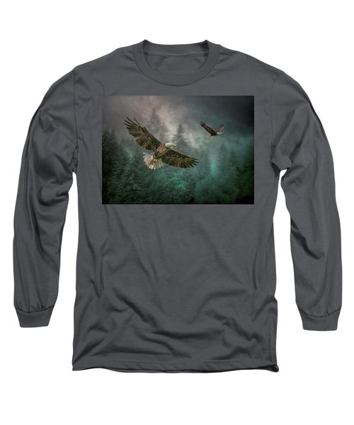 Valley Of The Eagles. Long Sleeve T-Shirt by Brian Tarr
