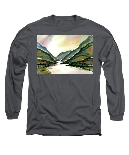 Long Sleeve T-Shirt featuring the painting Valley Of Water by Terry Banderas