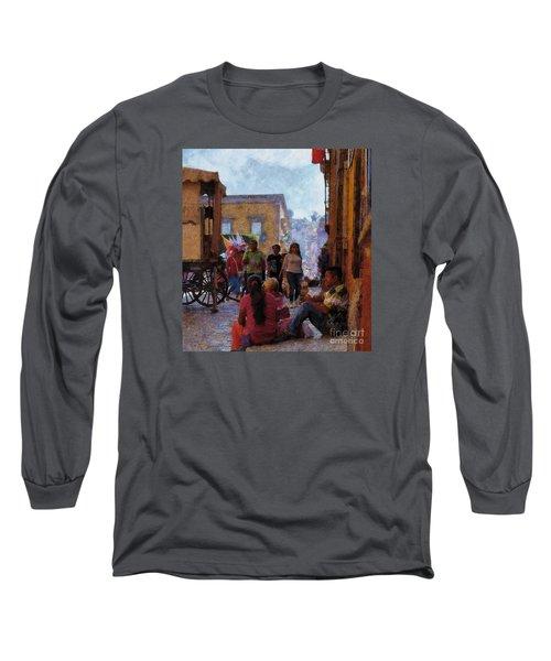 Van Gogh Visits Mexico Long Sleeve T-Shirt by John  Kolenberg