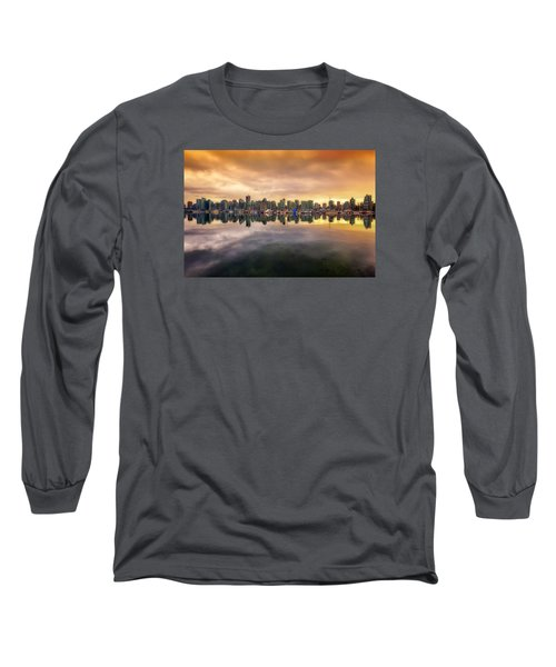 Long Sleeve T-Shirt featuring the photograph Vancouver Reflections by Eti Reid