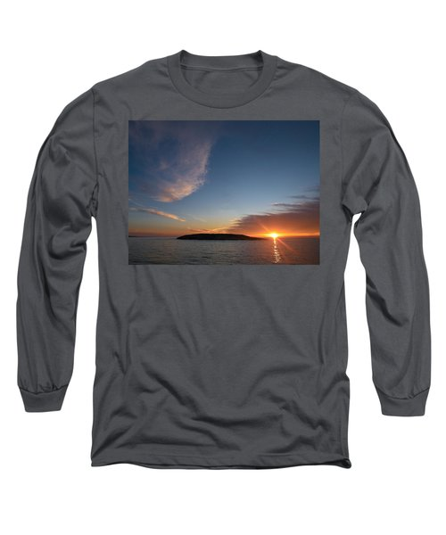 Long Sleeve T-Shirt featuring the photograph Variations Of Sunsets At Gulf Of Bothnia 2 by Jouko Lehto