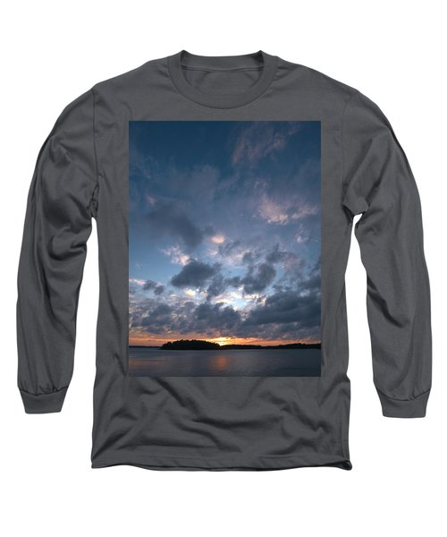 Long Sleeve T-Shirt featuring the photograph Variations Of Sunsets At Gulf Of Bothnia 5 by Jouko Lehto