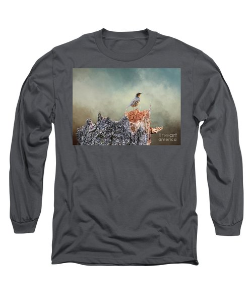 Varied Thrush On A Dead Tree Long Sleeve T-Shirt