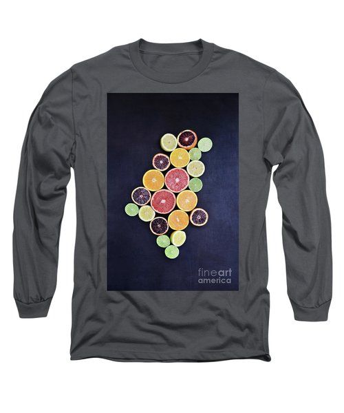 Long Sleeve T-Shirt featuring the photograph Variety Of Citrus Fruits by Stephanie Frey