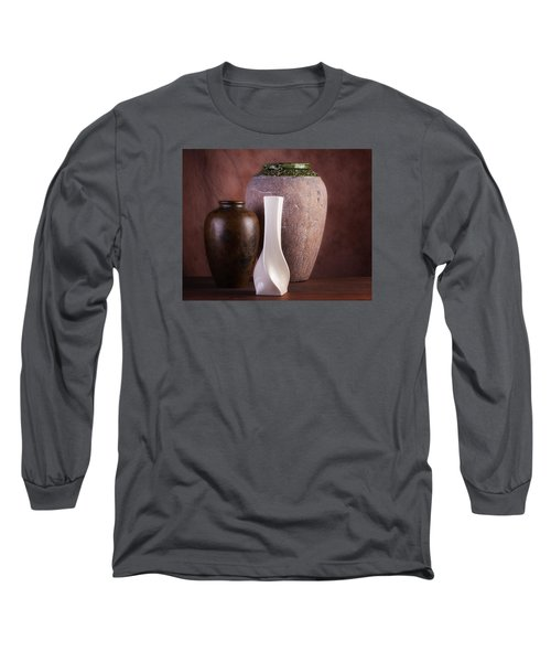 Vases With A Twist Long Sleeve T-Shirt by Tom Mc Nemar