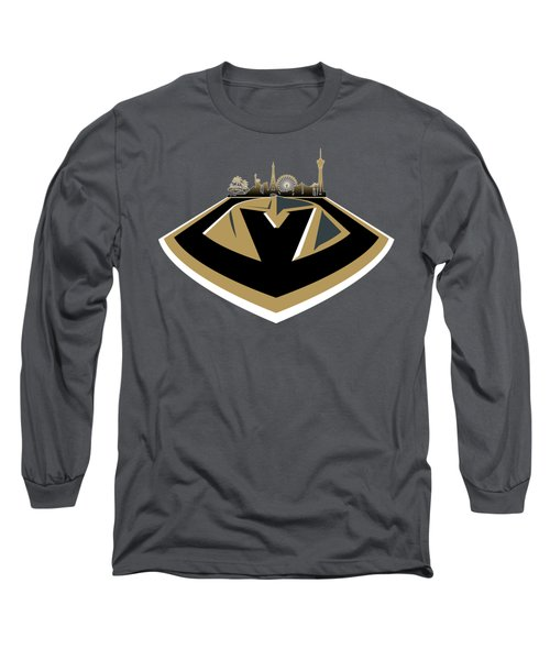 Vegas Golden Knights With Skyline Long Sleeve T-Shirt