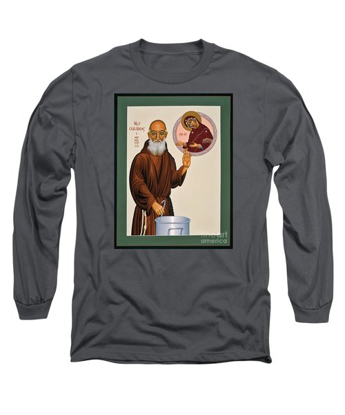 Long Sleeve T-Shirt featuring the painting Venerable Fr. Solanus Casey The Healer 038 by William Hart McNichols