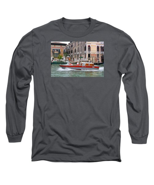 Venetian Ambulance Long Sleeve T-Shirt by Mariarosa Rockefeller