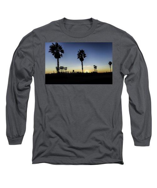 Long Sleeve T-Shirt featuring the photograph Venice Beach Skatepark by Chris Cousins