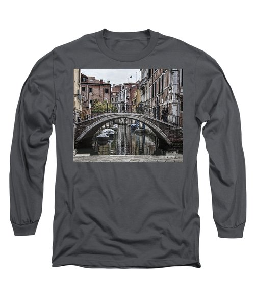 Long Sleeve T-Shirt featuring the photograph Venice Crossing by Shirley Mangini