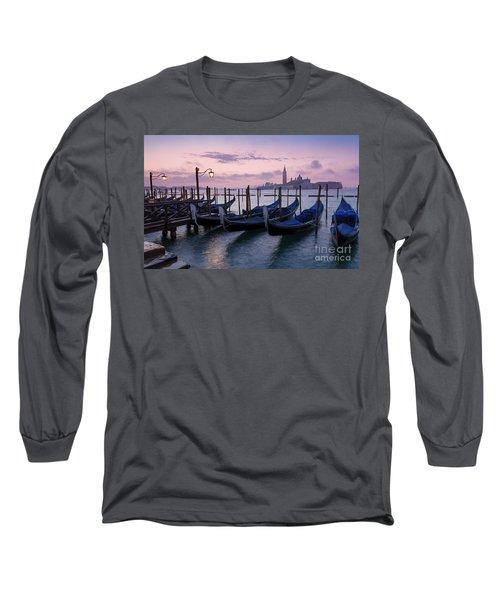 Long Sleeve T-Shirt featuring the photograph Venice Dawn II by Brian Jannsen