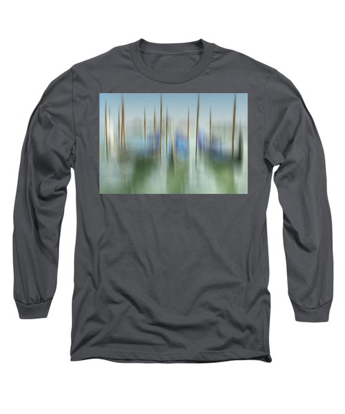 Venice Gondolas Impression 1 Long Sleeve T-Shirt by Marty Garland