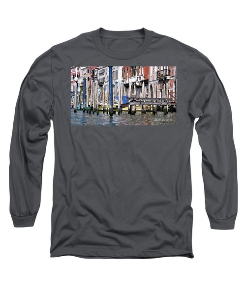 Long Sleeve T-Shirt featuring the photograph Venice Grand Canal by Allen Beatty