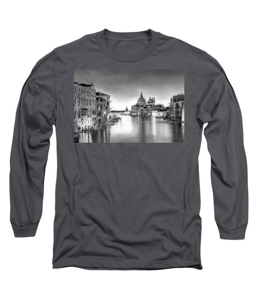 Venice Pencil Drawing Long Sleeve T-Shirt