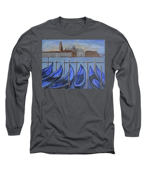Long Sleeve T-Shirt featuring the painting Venice by Victoria Lakes
