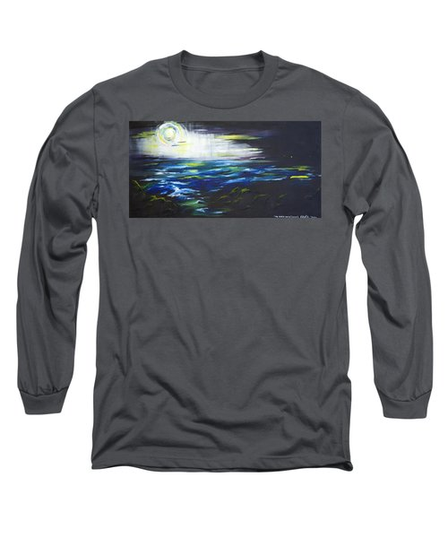 Ventura Seascape At Night Long Sleeve T-Shirt by Sheridan Furrer