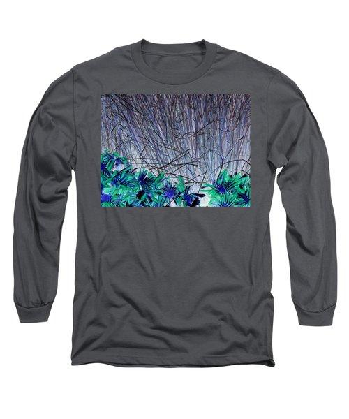 Venus Blue Botanical Long Sleeve T-Shirt