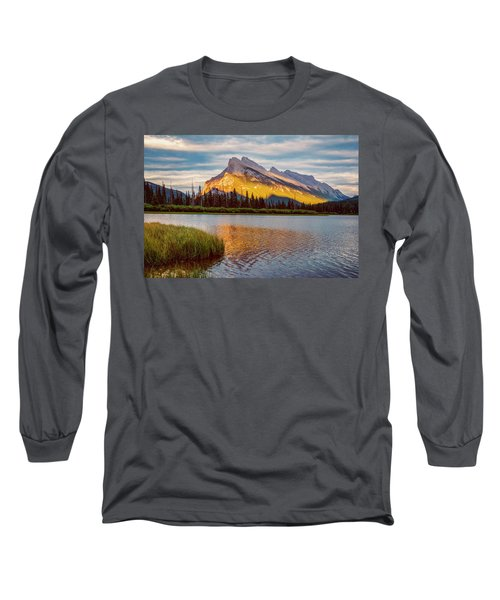 Vermillion Lakes And Mt Rundle II Long Sleeve T-Shirt